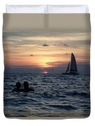 A Perfect Days End Duvet Cover