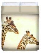 A Perfect Pair- Masai Giraffe Duvet Cover