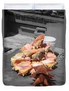 A Pile Of Seashells Duvet Cover