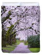 A Pink Pathway Duvet Cover