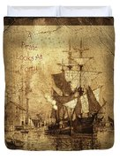 A Pirate Looks At Forty Schooner Wharf Duvet Cover