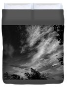 A Plane In The Clouds Duvet Cover