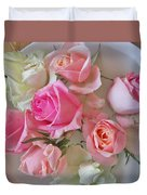 A Plate Of Roses Duvet Cover