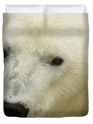 A Polar Bear At The Henry Doorly Zoo Duvet Cover