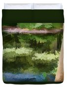 A Pond Reflection Duvet Cover