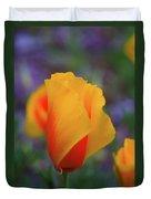 A Poppy Furled  Duvet Cover