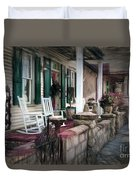 A Porch On The Bay Duvet Cover