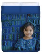 A Portrait Of A Guatemalan Girl Duvet Cover