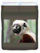 A Portrait Of A Sifaka Primate, A Large Lemur Duvet Cover