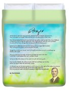 A Prayer By Max Ehrmann V1 Duvet Cover by Adam Asar