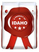A Product Of Idaho Duvet Cover