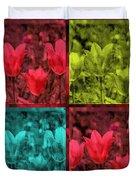 A Quadruple Of Tulips Duvet Cover