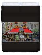 A Quaint Restaurant In Paris, France Duvet Cover
