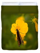 A Queen Butterfly At The Lincoln Duvet Cover