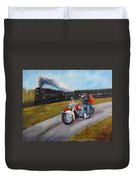A Race In Time Duvet Cover