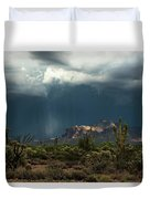 A Rainy Evening In The Superstitions  Duvet Cover