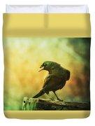 A Ravens Poise Duvet Cover