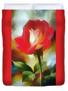 A Red Rose For Amelia Duvet Cover