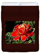 A Red Rose For You Duvet Cover