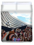 A Mural At L'enfant Plaza Duvet Cover