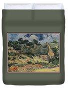 a replica of the landscape of Van Gogh Duvet Cover