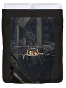 A Rescue Dog Is Transported Duvet Cover by Stocktrek Images