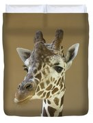 A Reticulated Giraffe Makes A Slanted Duvet Cover