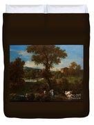 A River Landscape Duvet Cover