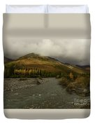 A River Runs Through The Brooks Range Alaska Duvet Cover