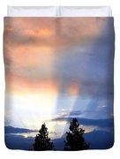 A Riveting Sky Duvet Cover