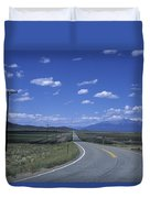 A Road Disappears Into The Distance Duvet Cover