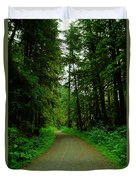 A Road Through The Forest Duvet Cover