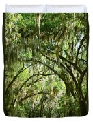 A Road To The Inside Just Outside Of Savannah Duvet Cover