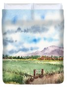 A Road To The Mountain Duvet Cover