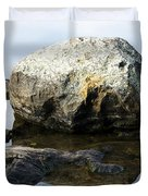 A Rock In Still Water Duvet Cover