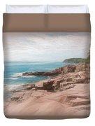 A Coastal Scene Duvet Cover