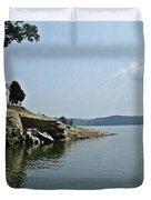 A Rocky Point - Monroe Lake Duvet Cover