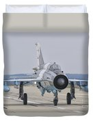 A Romanian Air Force Mig-21c Taxiing Duvet Cover