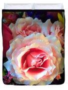 A Romantic Pink Rose Duvet Cover