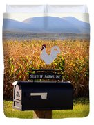 A Rooster Above A Mailbox 1 Duvet Cover
