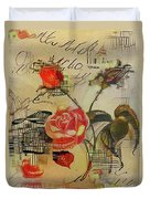 A Rose Story Duvet Cover