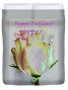A Rosy Birthday Wish Duvet Cover