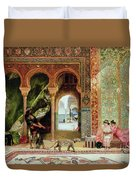 A Royal Palace In Morocco Duvet Cover by Benjamin Jean Joseph Constant