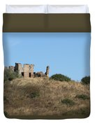 A Ruin In The Hills Of Tuscany Duvet Cover