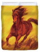 A Running Horse Duvet Cover