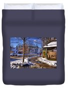 A Sandpoint Winter Duvet Cover