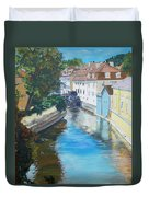 A Scene In Prague 2 Duvet Cover