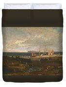 A Scene On The English Coast Duvet Cover