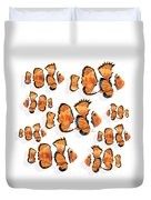 A School Of Clown Fish Duvet Cover