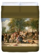 A School Playground Duvet Cover by Thomas Webster